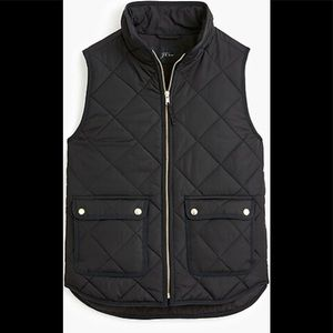 J. Crew Excursion Vest Down& Feathers /Poly Sz Med